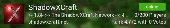 ShadowXCraft Minecraft server