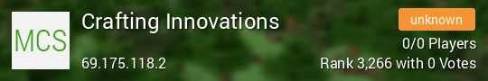 Crafting Innovations Minecraft server
