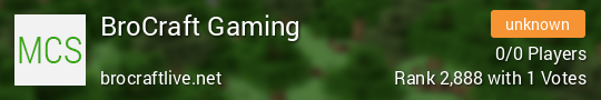 BroCraft Gaming Minecraft server
