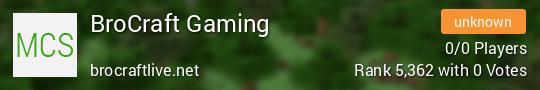 Brocraft Live Minecraft server
