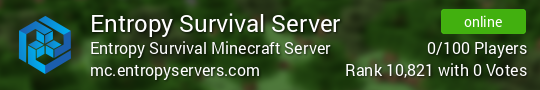 Entropy Survival Server Minecraft server