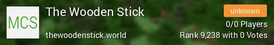 The Wooden Stick Minecraft server