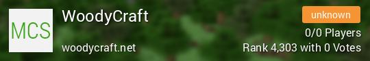 WoodyCraft Minecraft server