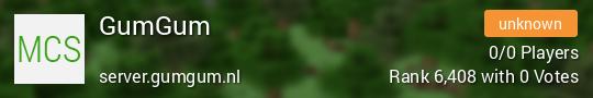 GumGum Minecraft server