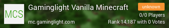 Gaminglight Vanilla Minecraft Minecraft server