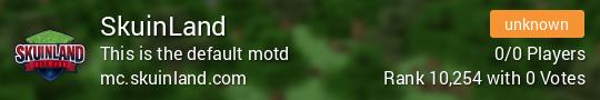 SkuinLand Minecraft server