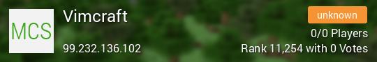 Vimcraft Minecraft server