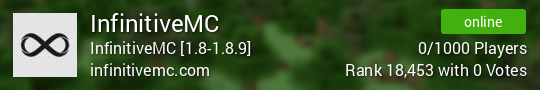 InfinitiveMC Minecraft server
