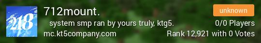 712mount. Minecraft server