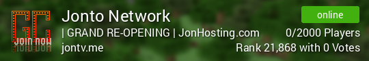 Jonto Network Minecraft server