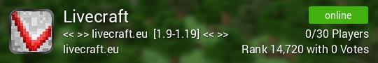 Livecraft Minecraft server