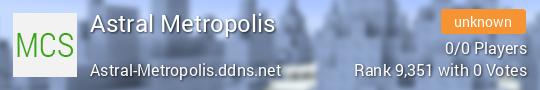 Astral Metropolis Minecraft server