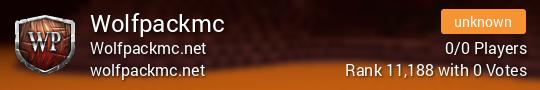 Wolfpackmc Minecraft server