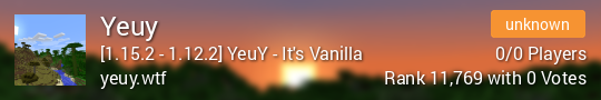 Vote us: YeuY! Its vanilla!