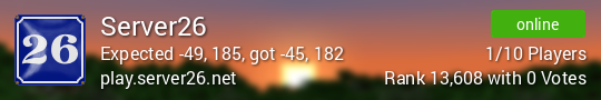 Server26 Minecraft server