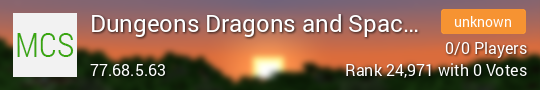 Dungeons Dragons and Space Shuttles Minecraft server